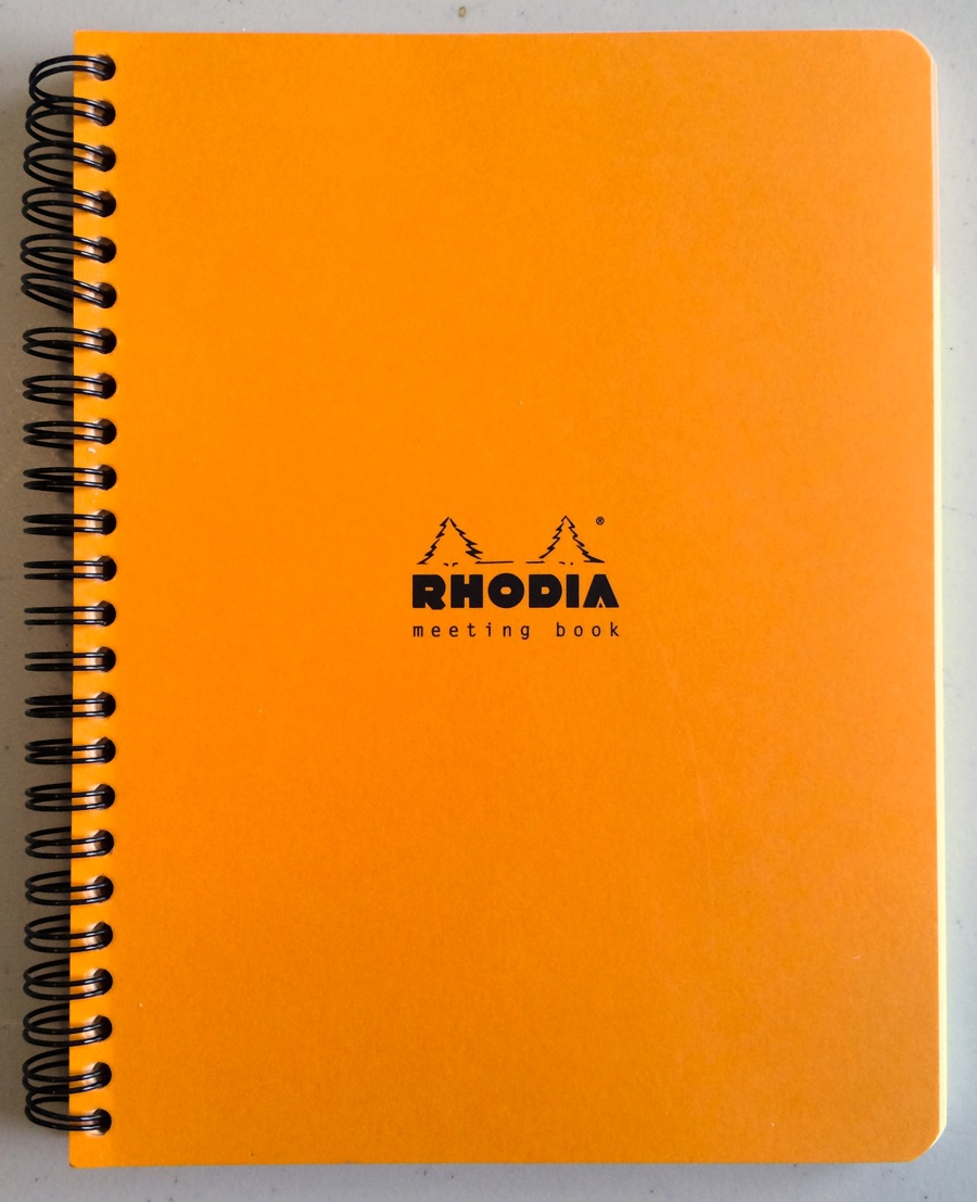 Rhodia Meeting Book cover, Derek Jones, 2015